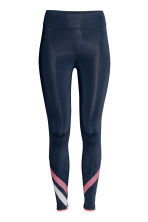 Sports tights - Dark blue - Ladies | H&M 2
