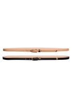 2-pack narrow belts - Black/Beige - Ladies | H&M IE 1