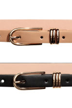 2-pack narrow belts - Black/Beige - Ladies | H&M IE 2