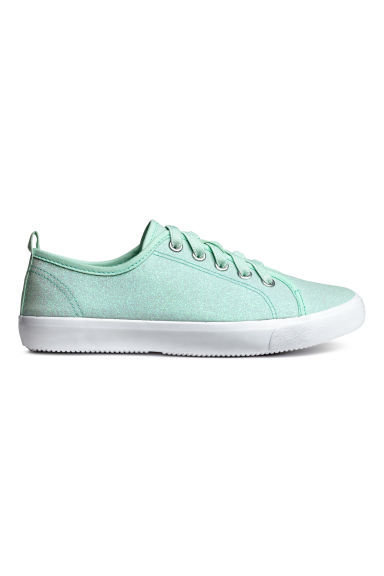 Glittery trainers - Mint green -  | H&M 1