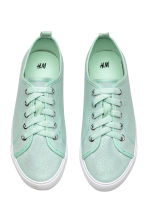 Glittery trainers - Mint green -  | H&M 2