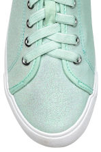 Glittery trainers - Mint green -  | H&M 3