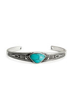 Metal bangle - Silver/Turquoise - Men | H&M 1