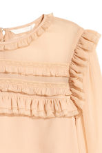 Frilled chiffon blouse - Powder beige - Ladies | H&M 4