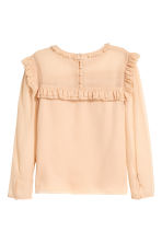 Frilled chiffon blouse - Powder beige - Ladies | H&M 3