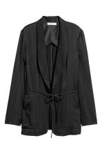 Herringbone-patterned jacket - Black - Ladies | H&M 2
