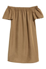 Off-the-shoulder dress - Khaki beige - Ladies | H&M 2