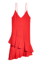 Flounced crêpe dress - Red - Ladies | H&M GB 2