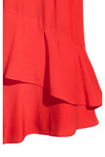 Flounced crêpe dress - Red - Ladies | H&M GB 3