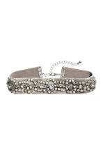 Sparkly choker - Grey/Silver - Ladies | H&M 1