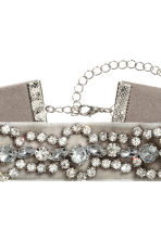 Sparkly choker - Grey/Silver - Ladies | H&M 2