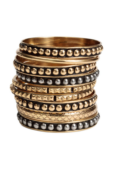 9-pack bangles - Gold - Ladies | H&M CN 1