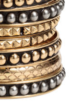 9-pack bangles - Gold - Ladies | H&M CN 2