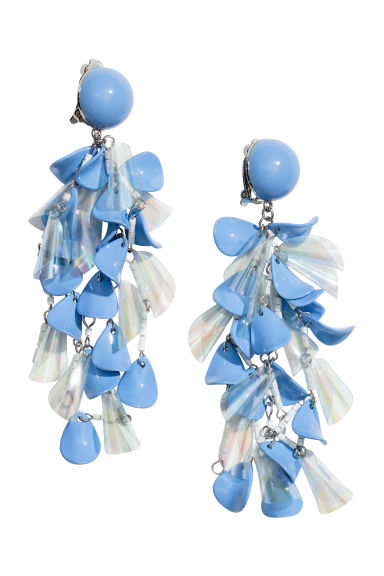 Clip earrings - Blue/White - Ladies | H&M 1