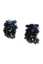 Sequined clip earrings - Black/Blue - Ladies | H&M 1