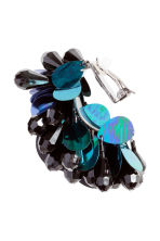 Sequined clip earrings - Black/Blue - Ladies | H&M 2