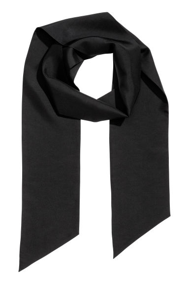 Narrow silk scarf - Black - Men | H&M CN 1
