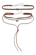 2-pack necklaces - Brown - Ladies | H&M CN 1
