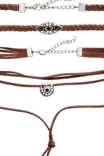 2-pack necklaces - Brown - Ladies | H&M CN 2