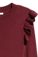Jumper with flounces - Burgundy - Ladies | H&M 3