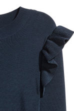 Jumper with flounces - Dark blue - Ladies | H&M 4