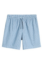 Pyjama shorts and T-shirt - White/Blue striped - Men | H&M 2