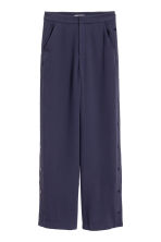 Wide trousers - Dark blue - Ladies | H&M CN 2