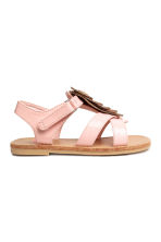 Sandals with appliqué detail - Light pink - Kids | H&M 2
