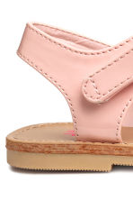 Sandals with appliqué detail - Light pink - Kids | H&M 3