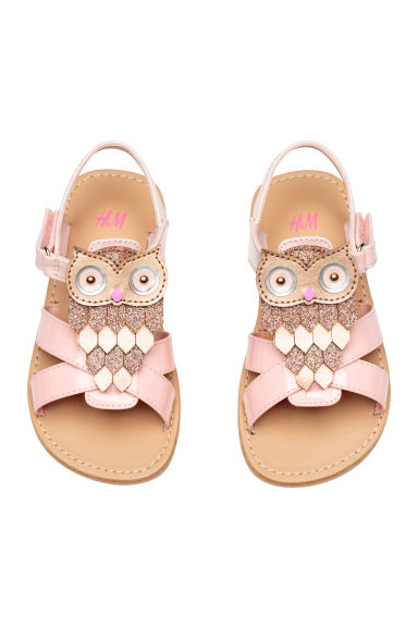 Sandals with appliqué detail - Light pink - Kids | H&M 1