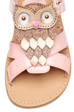Sandals with appliqué detail - Light pink - Kids | H&M 4