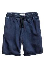 Knee-length cotton shorts - Dark denim blue - Men | H&M CN 2
