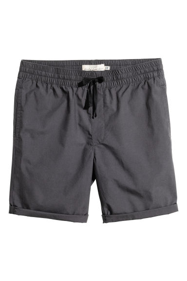 Knee-length cotton shorts - Dark grey - Men | H&M 1