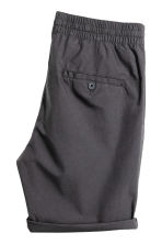 Knee-length cotton shorts - Dark grey - Men | H&M 2