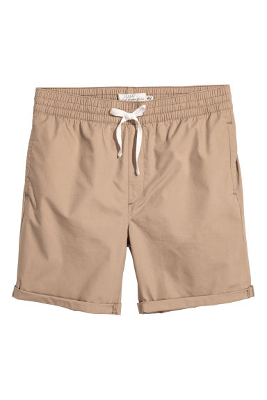 Knee-length cotton shorts - Beige - Men | H&M