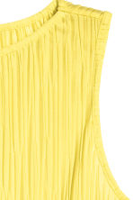 Pleated top - Yellow - Ladies | H&M CN 3