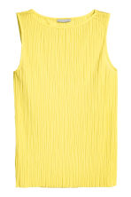 Pleated top - Yellow - Ladies | H&M CN 2