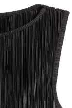 Pleated top - Black - Ladies | H&M 3
