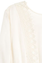 Dress with lace trim - Natural white - Ladies | H&M 4