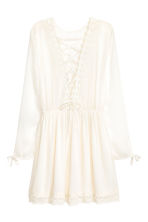 Dress with lace trim - Natural white - Ladies | H&M 3