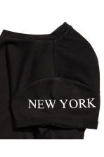 圖案上衣 - Black/New York -  | H&M 3