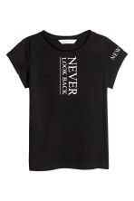 Printed top - Black/New York -  | H&M CN 2