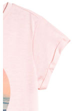 Printed top - Light pink -  | H&M 3