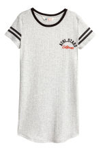 Printed T-shirt dress - Light grey marl - Kids | H&M 2