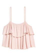 Flounced strappy top - Powder pink/Striped - Ladies | H&M 2