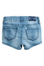 Denim shorts with sequins - Denim blue - Kids | H&M CN 3