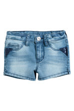 Denim shorts with sequins - Denim blue - Kids | H&M 2