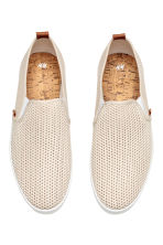 Slip-on trainers - Light beige - Men | H&M 3
