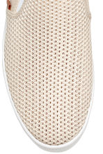 Slip-on trainers - Light beige - Men | H&M 4