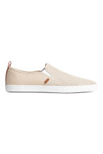 Slip-on trainers - Light beige - Men | H&M CN 2